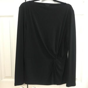 Ann Taylor Black Cinched Top